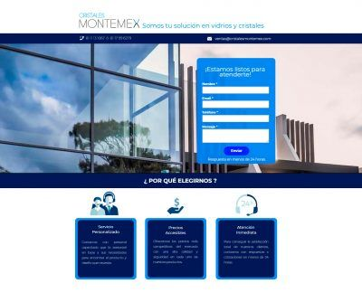 cristales montemex- landing page responsiva