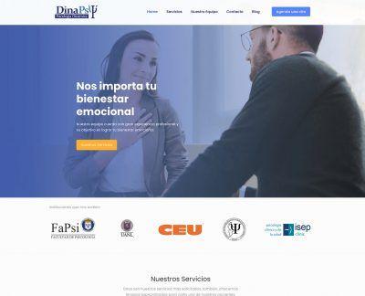 diseño web para dinapsy